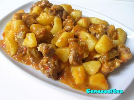 Costillas Y Patatas En Salsa Guiso Recetariocanecositas