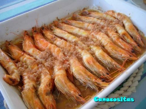 Langostinos al horno recetariocanecositas for Langostinos al horno