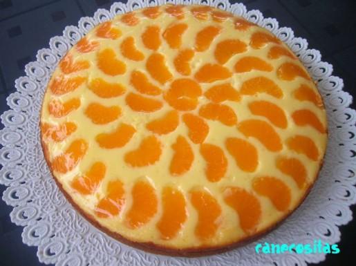 Tarta de queso y mandarinas recetariocanecositas - Postre con mandarinas ...