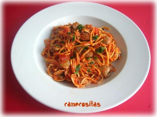 Espaguetis con almejas recetariocanecositas - Espaguetis con almejas ...