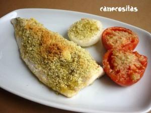 Merluza al horno recetariocanecositas - Merluza rellena de marisco al horno ...