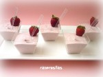 Mousse de chocolate y fresas 1