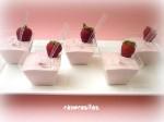Mousse de chocolate y fresas 1