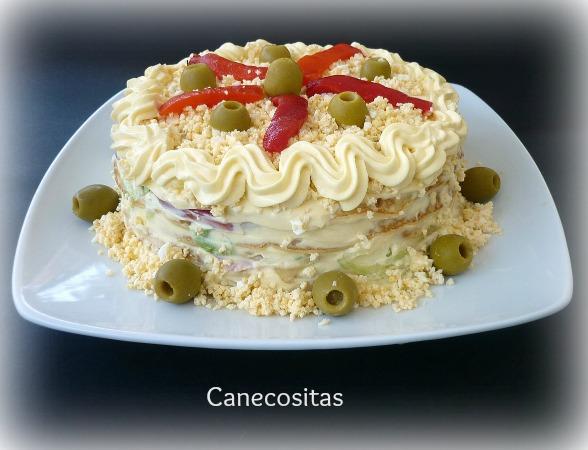 Pastel salado de crêpes 2 thermomix