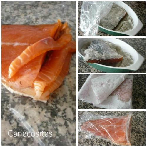 Salmón y bacalao marinado