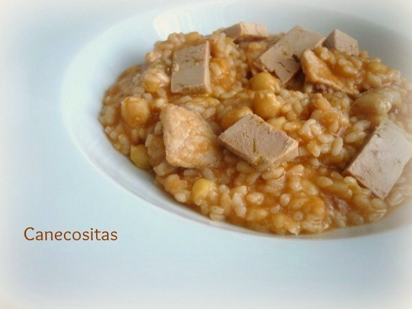 Arroz con magro, foie y garbanzos 2 thermomix