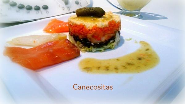 Ensalada de ahumados con vinagreta de alcaparras, mostaza y miel 2 thermomix