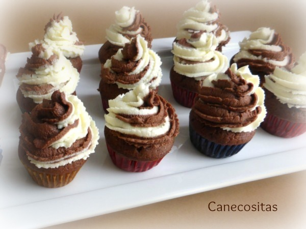 Muffins de chocolate con frostting de mascarpone 1 thermomix