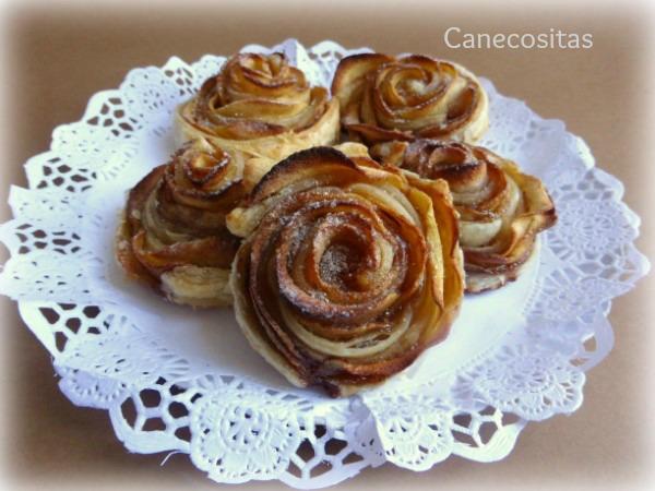 Rosas de hojaldre y manzana 1 thermomix