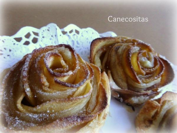 Rosas de hojaldre y manzana 2