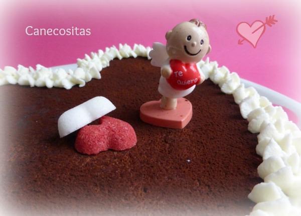 Tarta húmeda de chocolate San Valentín 2