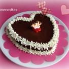 Tarta húmeda de chocolate San valentín 1