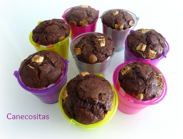 Muffins a los tres chocolates 1 thermomix