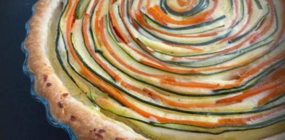 Tarta de zanahorías y calabacín