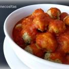 Albondigas al vapor  en salsa de tomate