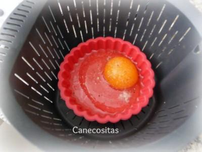 Brocoli al gorgonzola con huevo en molde