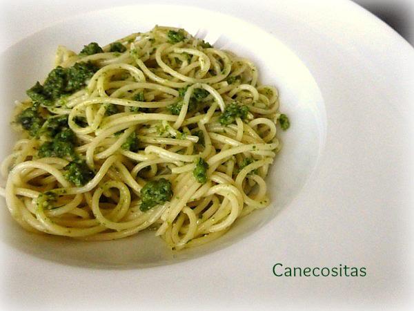 Spaguettis al pesto 1 thermomix