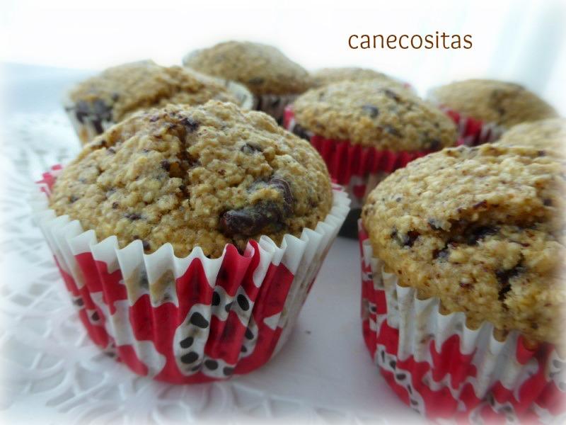 Muffins de avena, plátano y choco 5