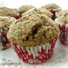 Muffins de avena  platano y choco